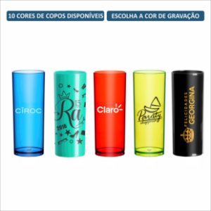 Kit Copos Long Drink 330ml Personalizados