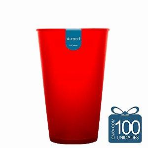 100 Copos Ecológico Biodegradável 550 ml Vermelho