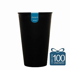 100 Copos Ecológico Biodegradável 550 ml Preto