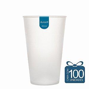 100 Copos Ecológico Biodegradável 550 ml Branco