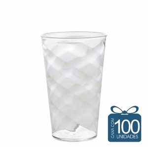 100 Copos Twister 500 ml Transparente