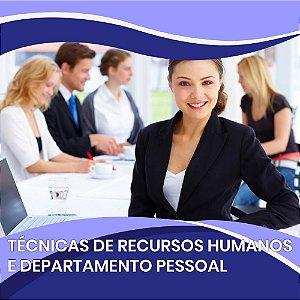 Técnicas de Recursos Humanos e Departamento Pessoal