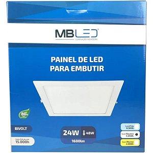 Painel Led 24W Quadrado Embutir 6500K Mb