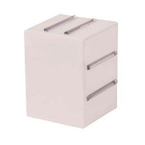 Arandela Light 8 Aletas Branca Soquete G9 - Plaslumi