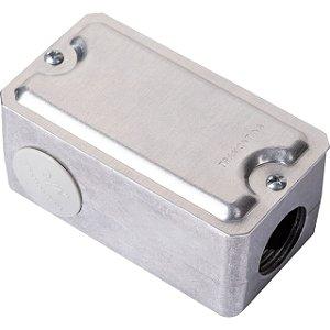 Condulete Multiplo Aluminio Modelo L 3/4 com Tampa Estampada sem Pintura- Tramon