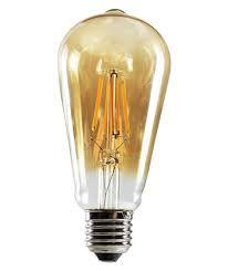 LAMPADA LED FILAMENTO ST64 4W E-27 AMBAR (11864) SORTELUZ