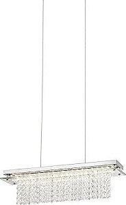 PENDENTE METAL/CRISTAL LED 18W