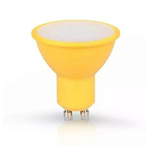 Lampada Led Dicroica Bi-Volt 33 Amarelo Gu10 4W - Ourolux