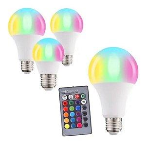 LAMPADA RGB LED 3W E27 C/ CONTROLE LRGB3W - JMX