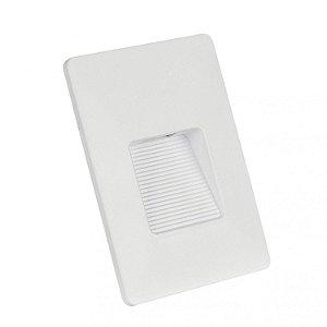 BALIZADOR CLEAN LED IP65 4x2 RECUADO 3W 3.000K - BRANCO - BLUMENAU