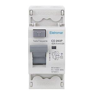 DISPOSITIVO DR 2P 63A 30mA (106486) ELETROMAR