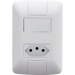 Interruptor Aria Branco Paralelo+1Tomada 2P+T 20A (57241048)  -Tramontina