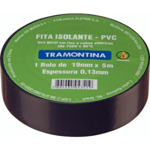 FITA ISOLANTE 20M X 0,13MM X 19MM PT (57540020) TRAMONTINA