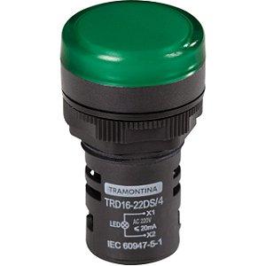 Sinalizador Tipo Led TRD 16-22DS/4 220V Verde (58015479) - Tramontina