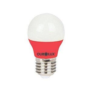 LAMPADA SUPERLED S30 COLORS 3W BIVOLT VERMELHO OUROLUX