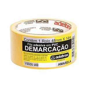 FITA P DEMARCAÇAO ADESIVA 48MM X 14M AMARELA - ADELBRAS