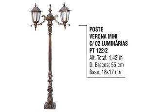 POSTE VERONA MINE C/ 02 LUMS. PRETO - L.N.SENHORA GUIA