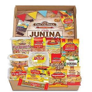 BOX ESPECIAL FESTA JUNINA COM BANDEIRINHAS
