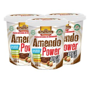 Kit 03 un de Amendo Power com Avelã e Cacau 450g