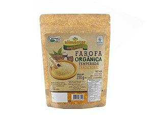 Farofa Orgânica Temperada Tradicional 200g Alimentar
