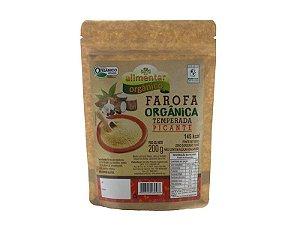 Farofa Orgânica Temperada Picante 200g Alimentar