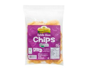 Chips de Batata Doce Orgânica 50g Alimentar