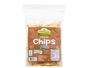 Chips de Inhame Orgânico 50g Alimentar