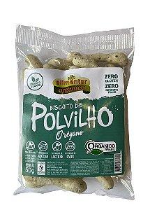 Biscoito de Polvilho Orgânico Vegano sabor Orégano 50g Alimentar