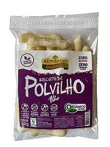 Biscoito de Polvilho Orgânico Vegano com Alho 50g Alimentar