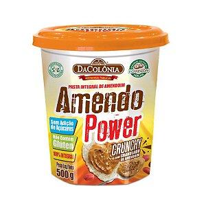 Pasta Integral de Amendoim Amendo Power Crunchy com Granulado de Amendoim 500g