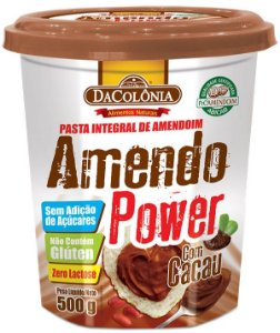 Amendo Power com Cacau - Pasta Integral de Amendoim 500g