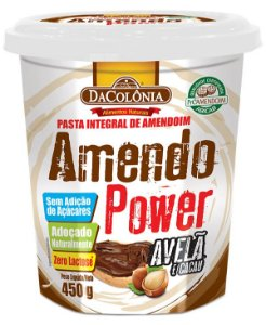 Amendo Power com Avelã e Cacau - Pasta Integral de Amendoim 450g