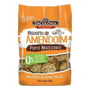 Biscoito de Amendoim Puro Mascavo - 200g