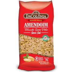 Amendoim Torrado sem Pele 500g
