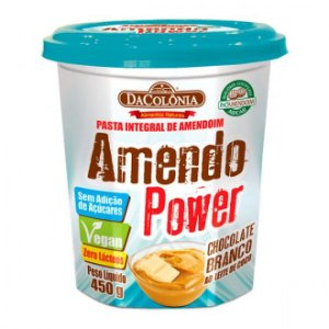 Amendo Power Chocolate Branco ao Leite de Coco - Pasta Integral de Amendoim - 450g