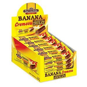 Banana Cremosa com Chocolate Display com 24un de 26g - 624g