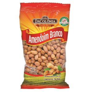 Amendoim Branco Cru com Pele 400g