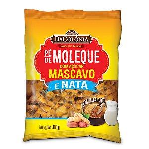 PÉ DE MOLEQUE COM AÇÚCAR MASCAVO E NATA 300g