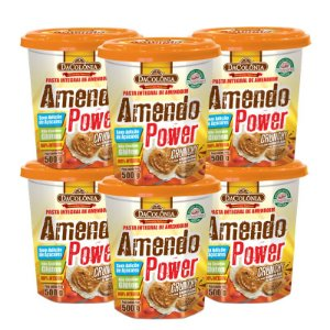 Kit 06 unidades de Amendo Power Crunchy com Granulado de Amendoim 500g