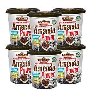 Kit 06 un de Amendo Power sabor Brigadeiro Proteico Vegano 450g