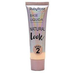 BASE LÍQUIDA NATURAL LOOK RUBY ROSE GRUPO 2