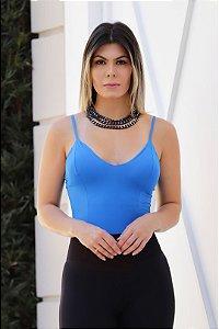 Body de Alcinha Liso Divinali Azul - Tam. Único