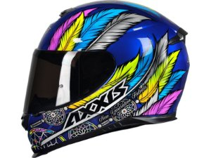 Capacete Axxis eagle dreams gloss blue/grey todos