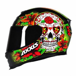 Capacete Axxis Skull Gloss Black/Yellow TAM:60