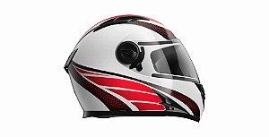 Capacete Honda HF2 Vermelho/Branco TAM:60