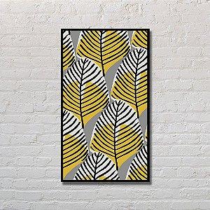 Quadro Decorativo Folhas Amarelas