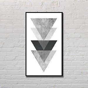 Quadro Decorativo Triângulos Pretos