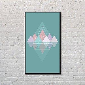 Quadro Decorativo Triângulos Simétricos