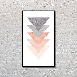 Quadro Decorativo Triângulos Escandinavos