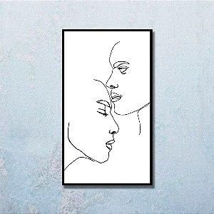 Quadro Decorativo Beijo na Testa